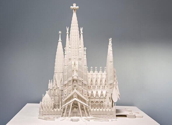 Modell der Sagrada Familia