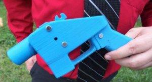 Eine einfache 3D-Waffe wie diese besitzt zu wenig Metall um von Detektoren entdeckt zu werden (Foto: © 3dprint.com)