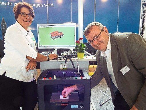 Foto von 3D-Drucker, Ulrich Fleig und Alexandra Seifried