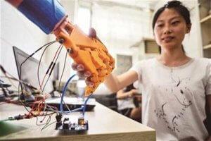 Fühlende 3D-Druckprothese