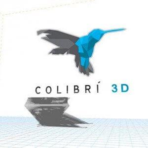 Colibrí 3D-Logo