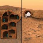 Mars 3D-Häuser