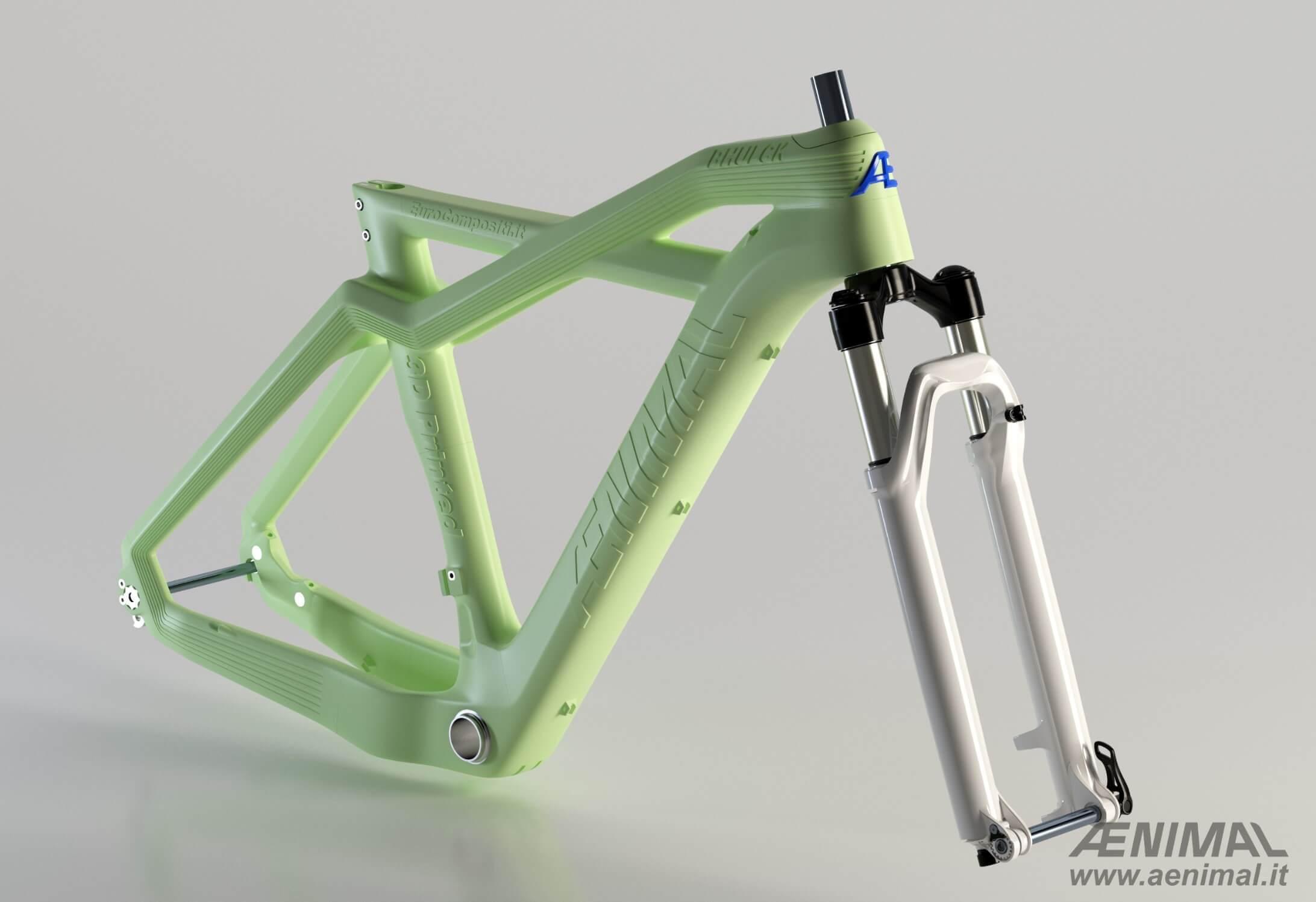 Kompostierbarer Fahrradrahmen aus dem 3D-Drucker