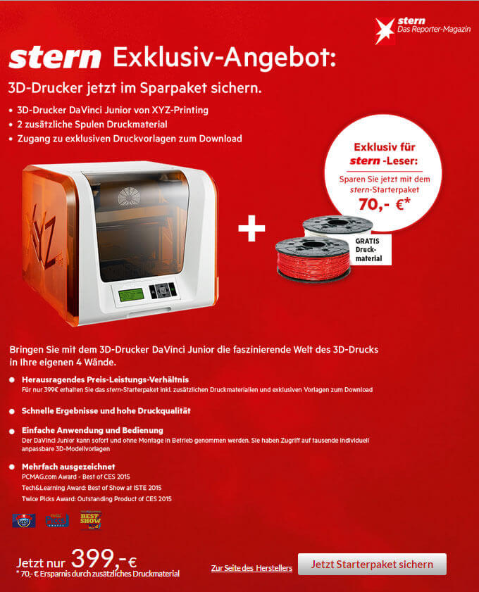 Stern verkauft 3D-Drucker