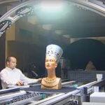 3D-Scan-Strasse scannt historische Skulptur