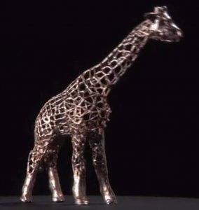 Giraffe aus Metall