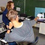 Schüler beim SD-Scan