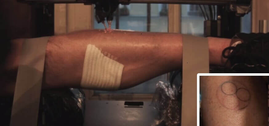 Tattoodrucker und 3D-gedrucktes Tattoo