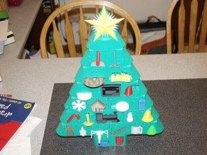 Adventskalender mit Spielzeug aus dem 3D-Drucker