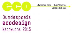 Bundespreis ecodesign 2015 Nachwuchs