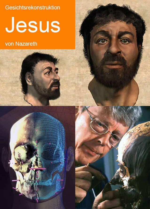 Gesichtsrekonstruktion: Sah so Jesus von Nazareth aus? (Bilder © 3dprint.com).