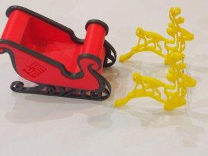 Weihnachtsmann Schlitten aus dem 3D-Drucker