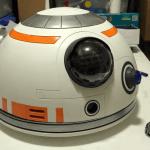 Fertige Kopf des BB8-Droiden aus dem 3D-Drucker
