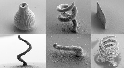 Kleine Metallteile aus dem 3D-Drucker