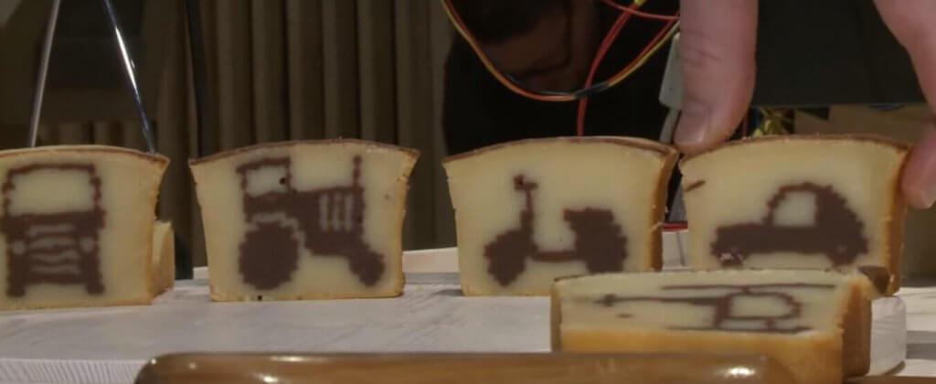 Beispiele für Kuchen aus dem 3D-Drucker