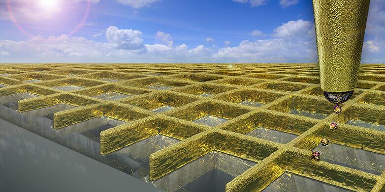 Nanowände aus Gold