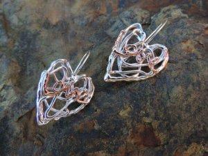 Herzen aus Silber