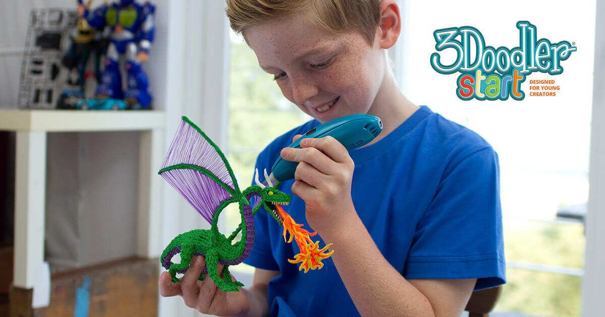 Der 3Doodler Start soll Kinder ab 8 Jahre für das dredimensionale Zeichnen begeisterm (Bild © 3doodlerstart.com)