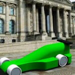 Rennwagen als CAD-Modell