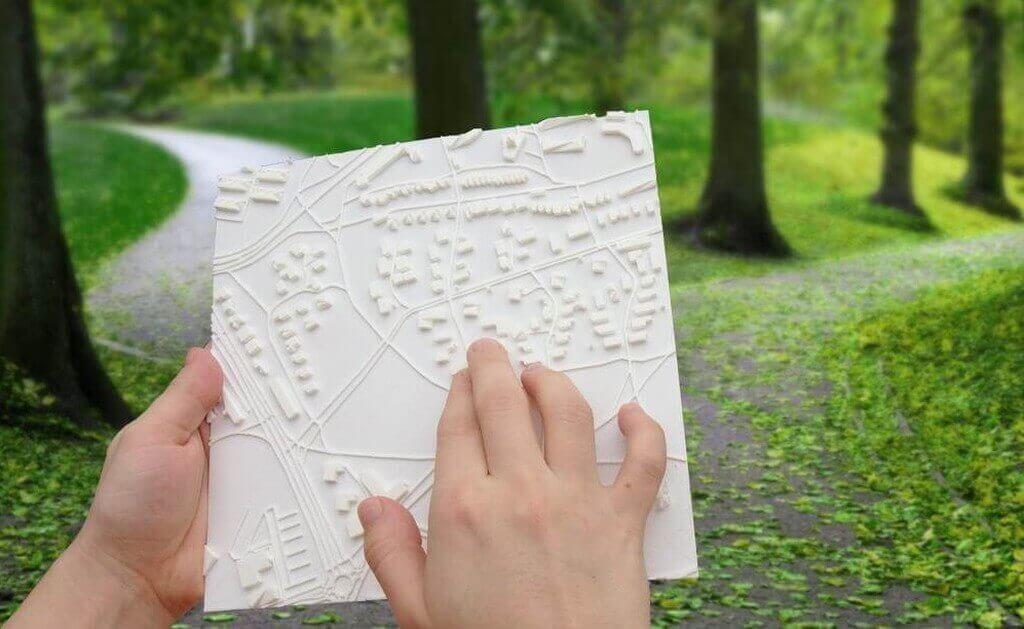 Bild einer tatsbaren Karte