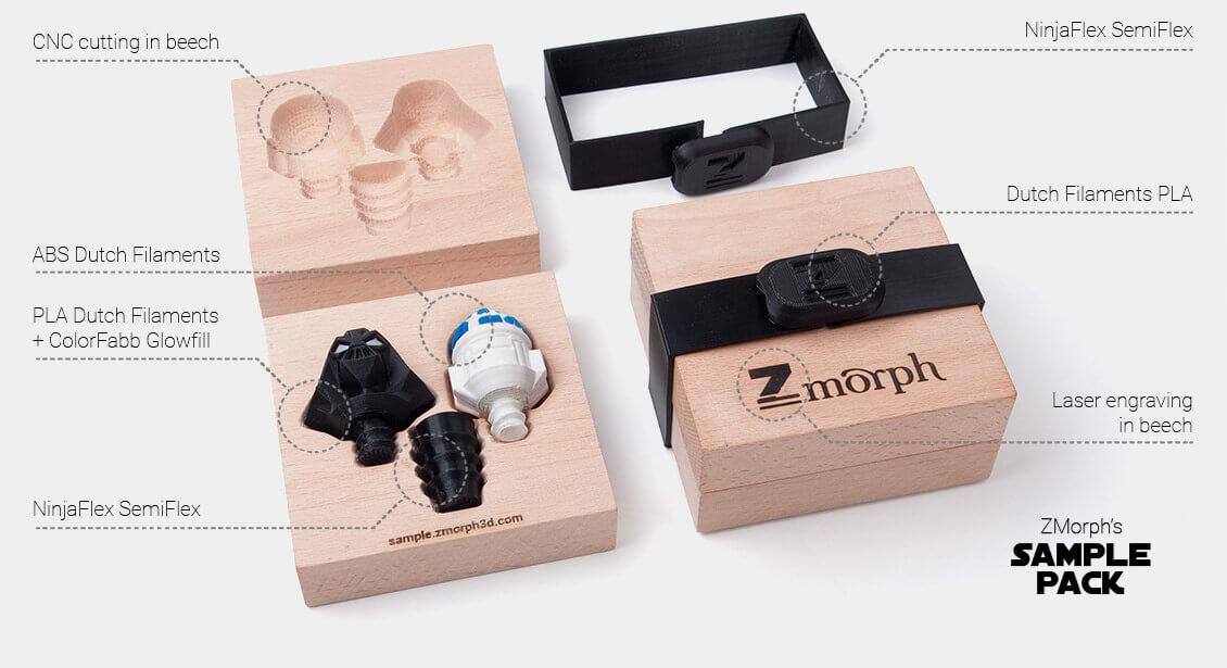 Beispiele für die vielfältigen Objekte aus dem ZMorph 2.0 SX.
