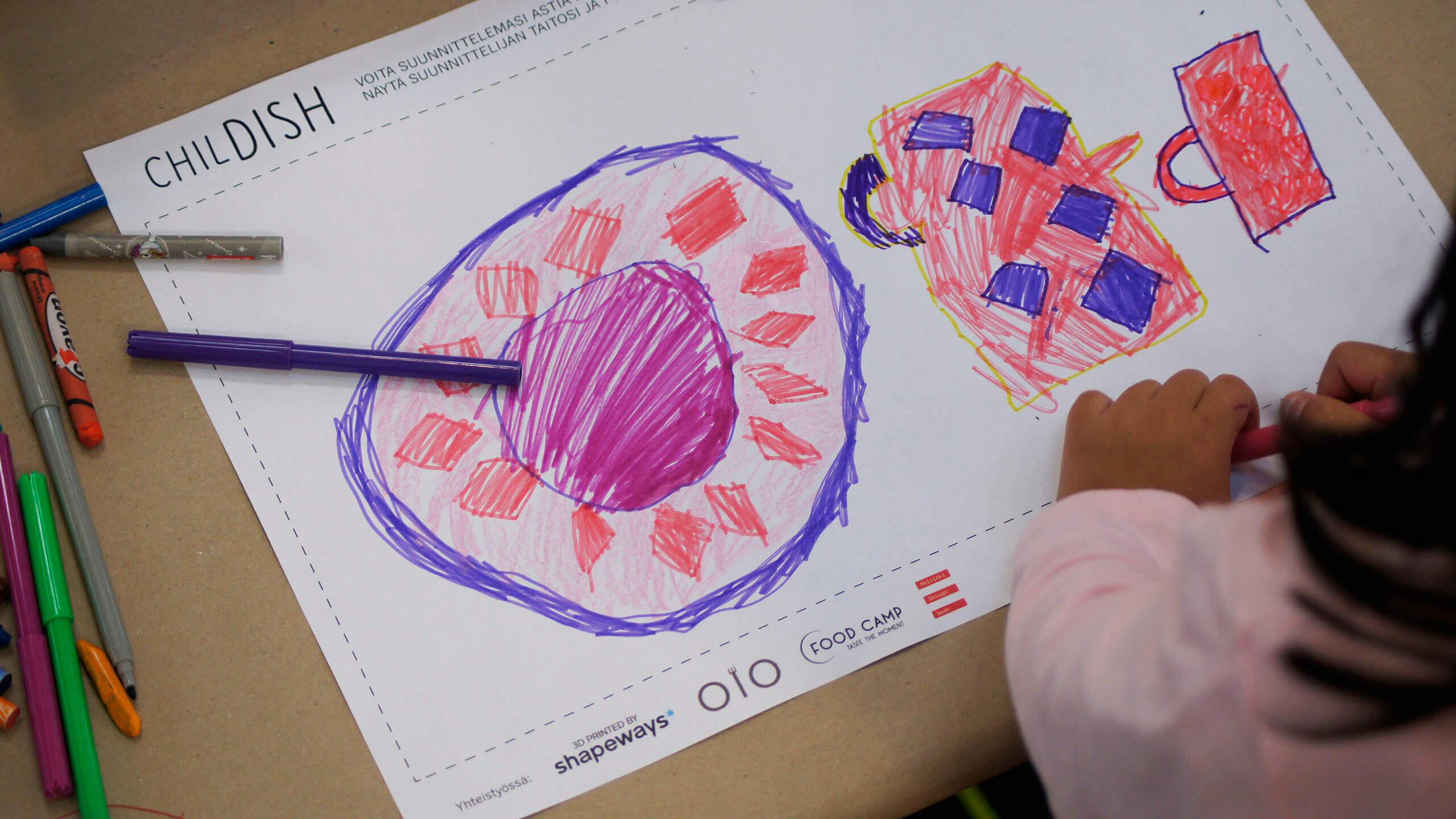 Das fertige Produkt entstammt dem Entwurf einer Kinderzeichnung (Bild © chil-dish.fi).