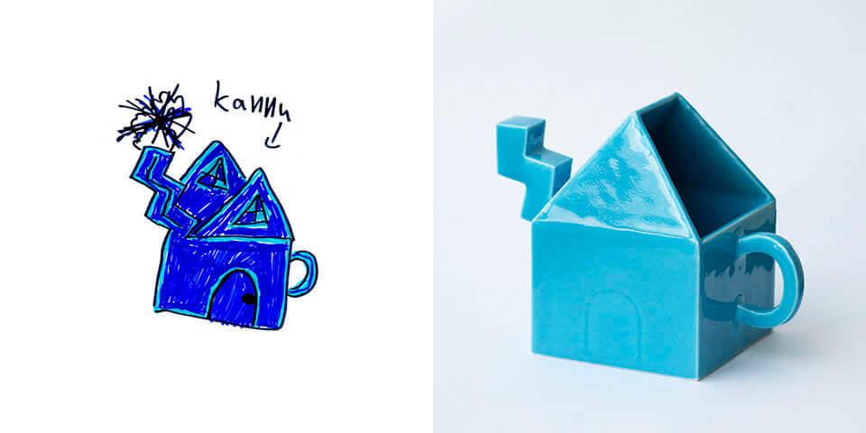 Selbst entworfen und gebaut: Eine Teekanne die aussieht wie ein Haus (Bild © chil-dish.fi).