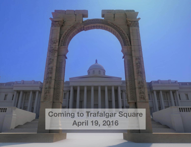 3D-Druck half bei der Rekonstruktion des syrischen Triumphbogens von Palmyra (Bild © digitalarchaeology.org.uk).