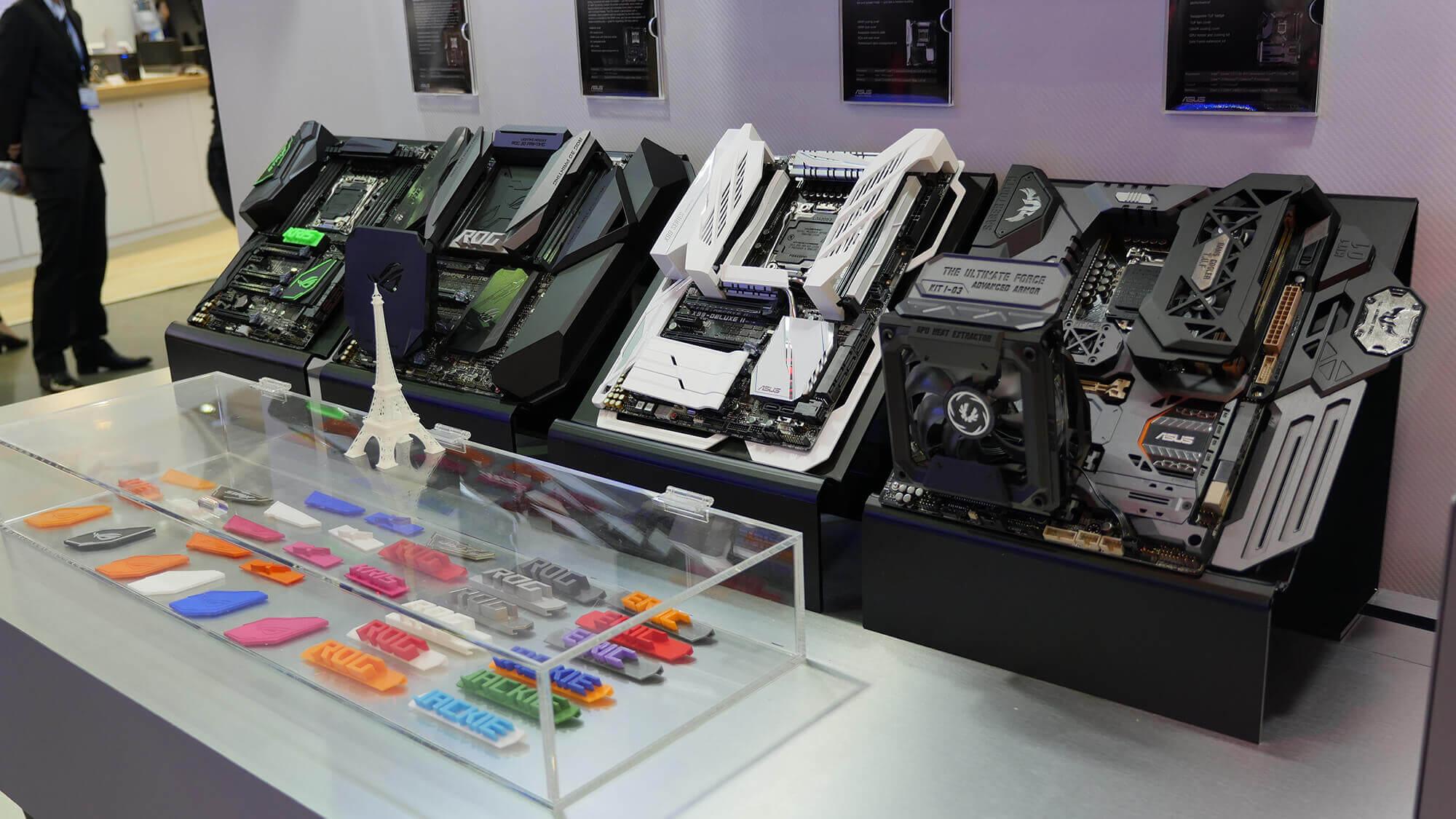 Asus-Computerkomponenten aus einem 3D-Drucker (Bild © rog.asus.com).