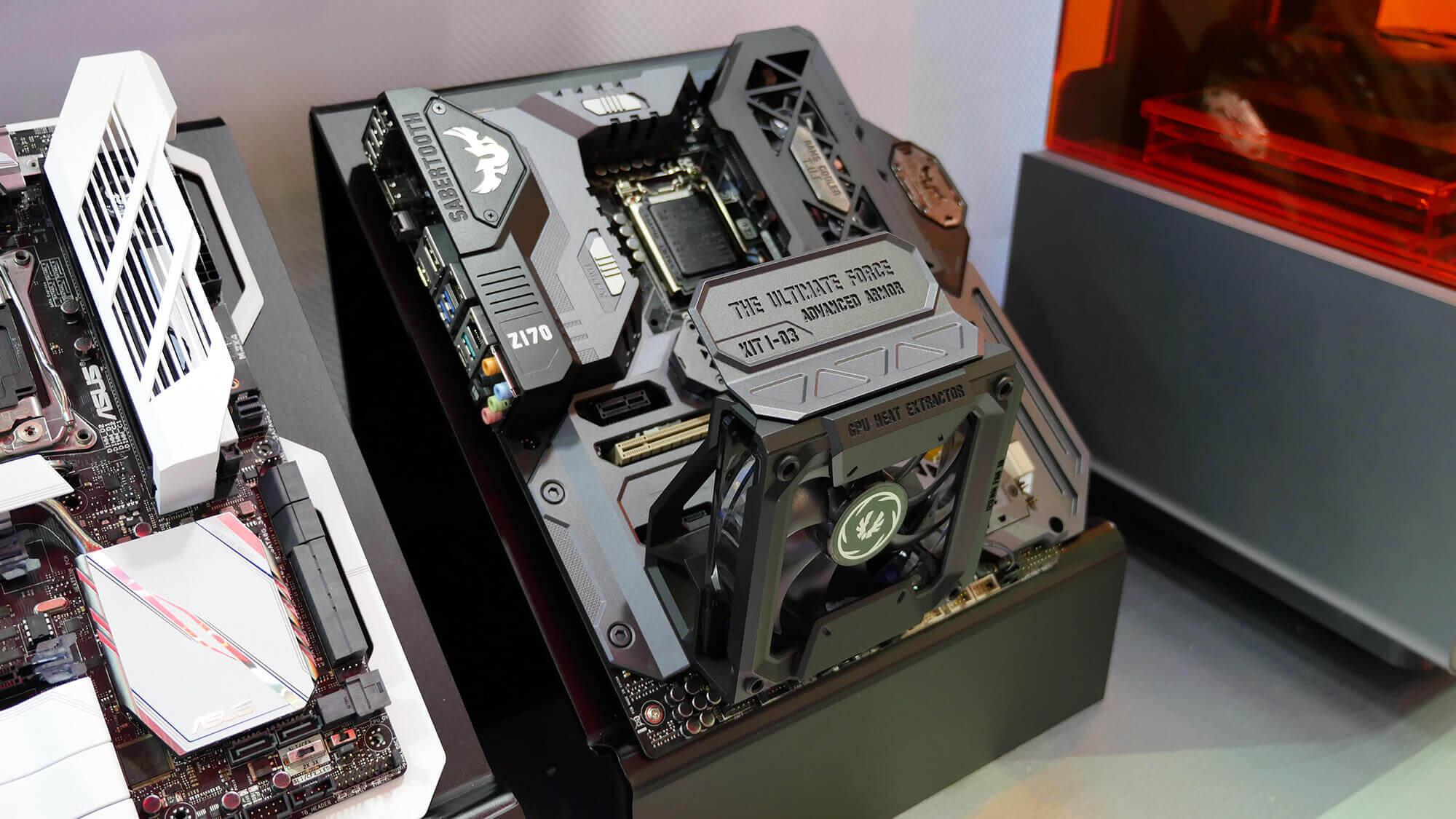 Gamer-PC-Gehäuse aus dem 3D-Drucker speziell für die männliche Zielgruppe (Bild © rog.asus.com).