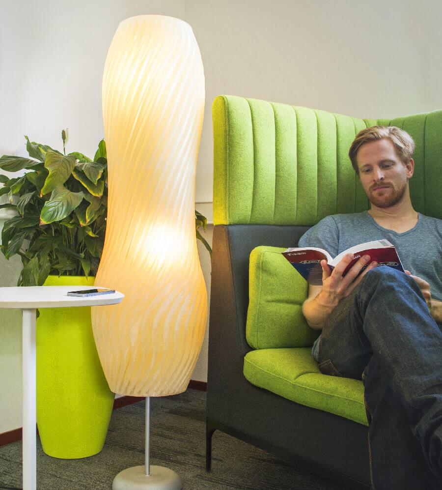 Lampe aus dem 3D-Drucker (Bild © Leapfrog)