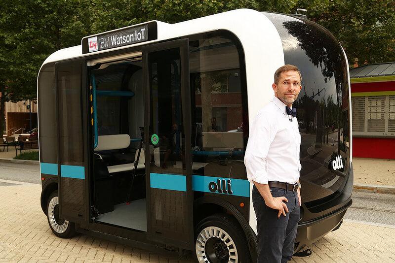 Olli selbstfahrender Bus aus dem 3D-Drucker