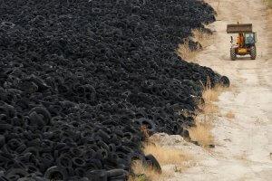 Viele alte Reifen