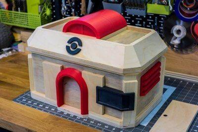 pok mon go spieler fertigt pok center ladestation mit einem 3d drucker. Black Bedroom Furniture Sets. Home Design Ideas