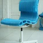 Bürostuhl aus dem WASP Delta 3MT 3D-Drucker. (Foto: © wasp.it)