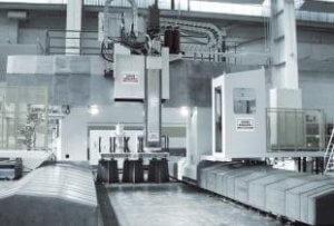 Große Werkzeugmaschine von Ingersoll.