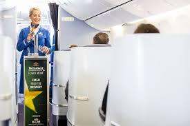 Passagiere der KLM können jetzt auch Bier trinken.