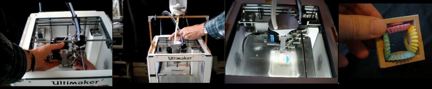 ColorPod 3D und Drucker.