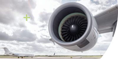 Flugzeugturbine.