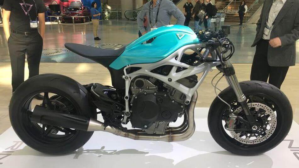 Dagger: Unternehmen fertigt Motorradrahmen mit einem 3D-Drucker