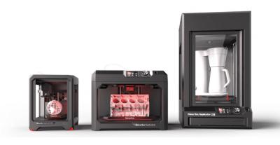 Drei verschiedene MakerBot Modelle