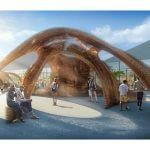 Pavillon aus dem 3D-Drucker.