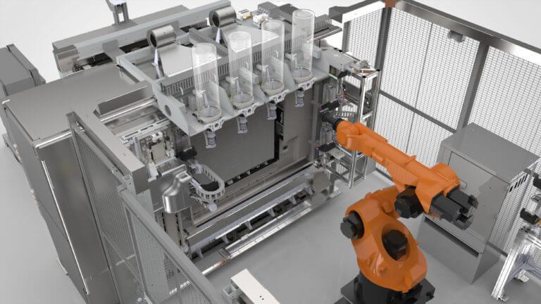 Der 3D-Drucker im Einsatz.