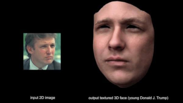 Donald Trump Gesichtsmaske