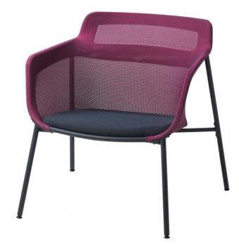 PS 2017 Stuhl mit 3d-gestrickter Sitzfläche und Rückenlehne.