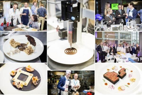 3D-Druck von Speisen im Londoner Food Ink. Restaurant.