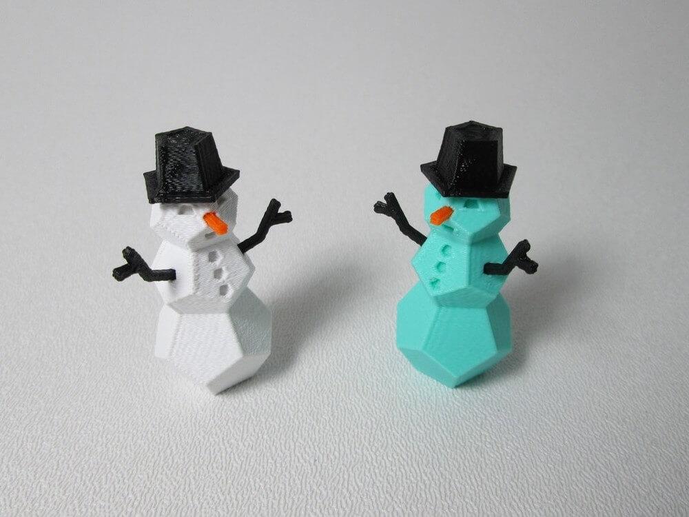 Selber machen 10 ideen f r winterdeko aus dem 3d drucker for Dekoration schneemann