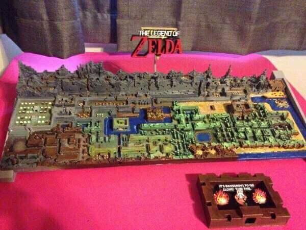 Zelda-Karte aus dem 3D-Drucker