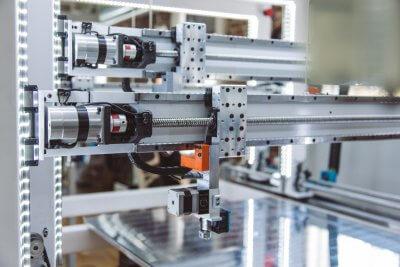 Teilansicht des Cronus 3D-Druckers.