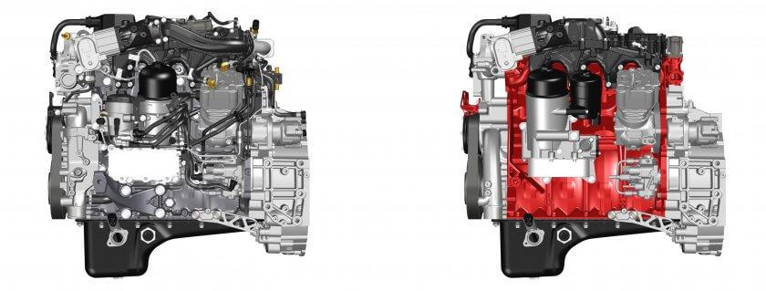Konventionell und mit 3D-Druck hergestellter DTI 5-Motor im Vergleich.